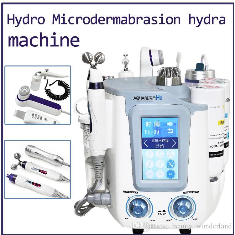 Портативный 3 в 1 Hydro Микродермабразия Hydra Deep Cleaning лица BIO Микротоковая подтяжка лица подтяжка кожи машина Лечение Spa Beauty