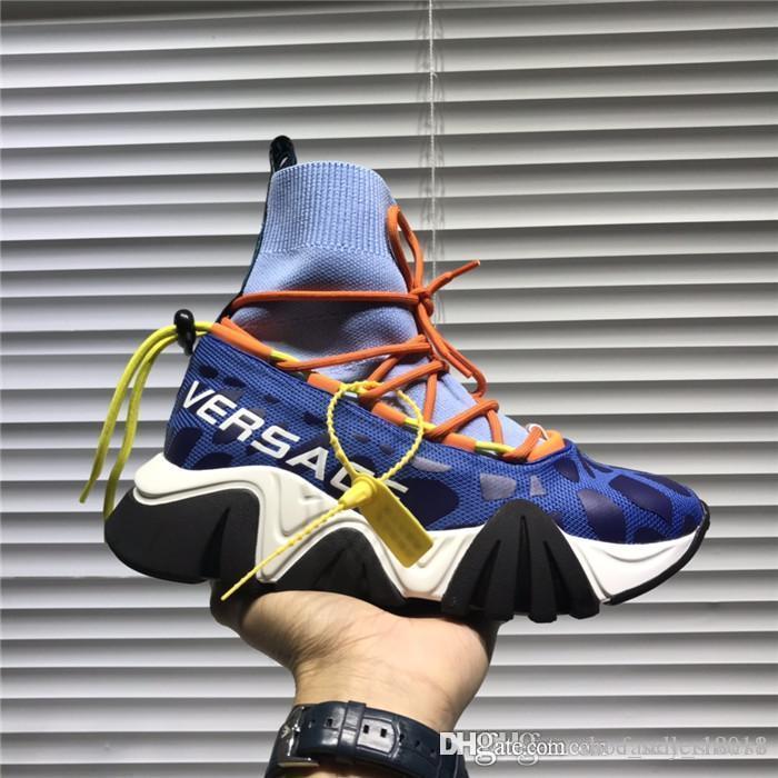 Весна стиль 2020 Подиум папа обувь носки сапоги, Атмосферный характеристика износостойких вакуума противоскользящей подошвой любитель обуви с коробкой