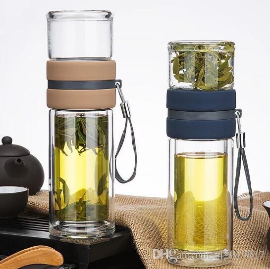 Yüksek dereceli yeni çay su ayırma cam iş ofis kadın ve erkek hediye fincan