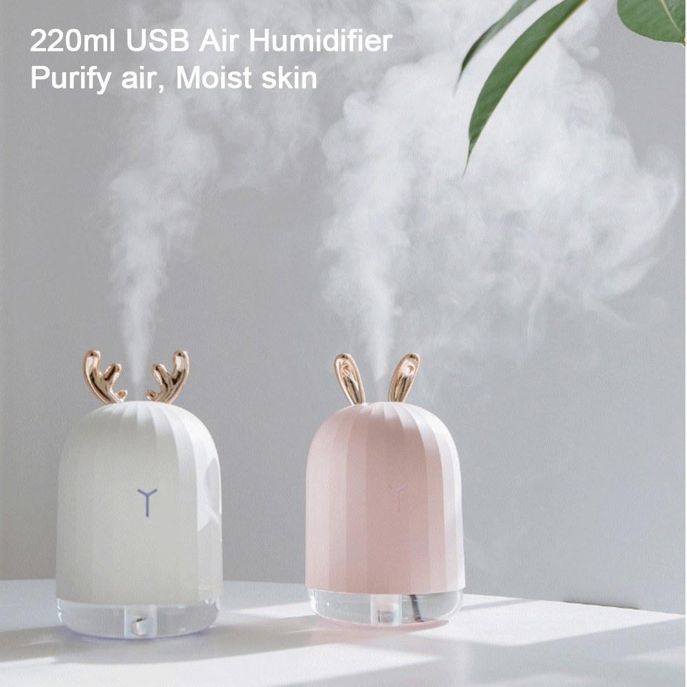 Mini-USB-Ultraschall-Luftbefeuchter Diffusor Aromatherapie-Nebel-Hersteller-Luftreiniger Luftbefeuchter für Start Auto Büro 220ml