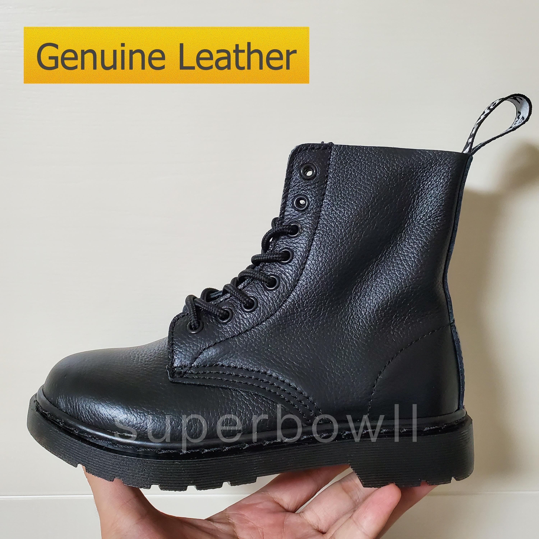 Calidad superior GenuineLeather Zapatos para hombre Martin Botas Martins Botas Mujer Botas Aumento de la altura Zapatos Blanco Amarillo Zapatos de lujo EE.