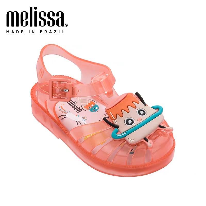 Mini Melissa Boys Jelly Kız Sandalet Bebekler Bebek Roman Çocuk Plaj Ayakkabı cut-out T200428