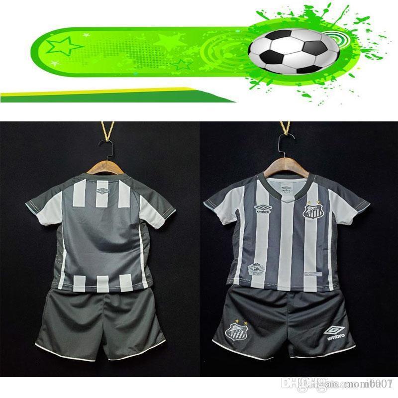 çocuklar kiti 19 20 Brezilya SANTOS FC futbol forması evden uzakta üçüncü 2019 2020 ALISON RENATO RODRYGO GABRIEL B. BRUNO HENRIQUE DODO camiseta footba