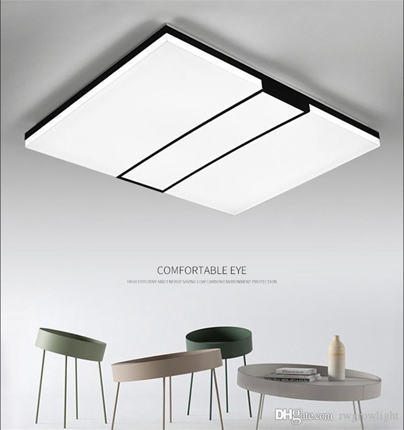 Luz de techo Lámpara de techo moderna 5cm LED ultra-delgada de montaje en superficie de panel a nivel de iluminación remota de control para restaurante Foyer Dormitorio