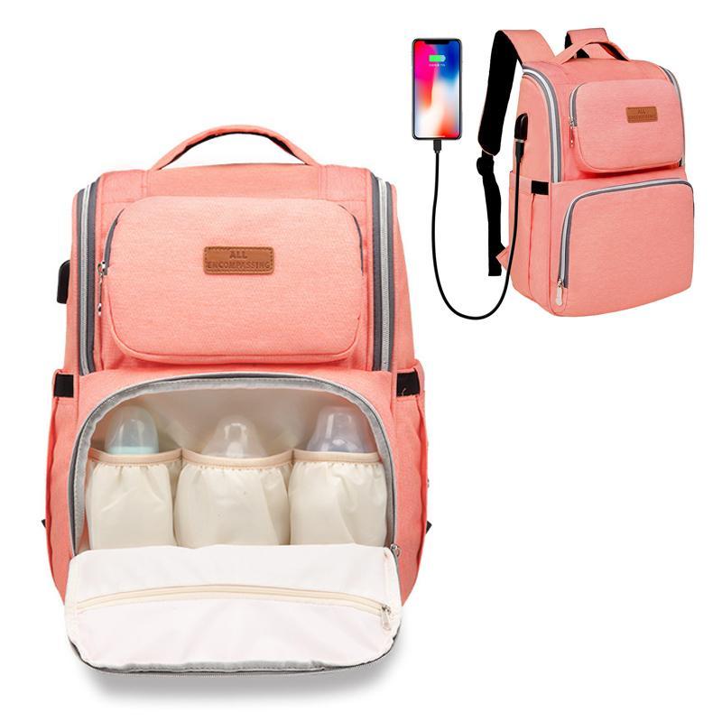 Gran capacidad Mami Mochila 5 colores Mami mochilas de los panales del pañal Bolsas Madre de maternidad Mochila multifuncional mamá Bolso cambiador