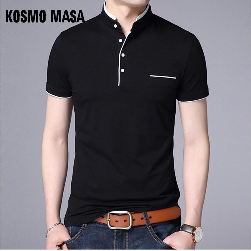 Kosmo Masa Slim Fit Casual Polo Shirt Men Cotton Short Sleeve Collar Mens Polo Shirts Summer Top Male Polo Shirts For Men Mp0006 MX190711