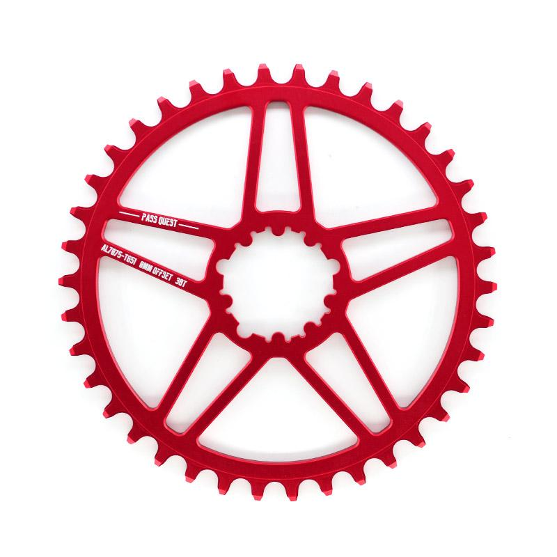 PASS QUEST GXP MTB Bike Chainring Chainwheel narrow wide bicycle Crankset chain wheel 0mm Offset 38T/40T/42T