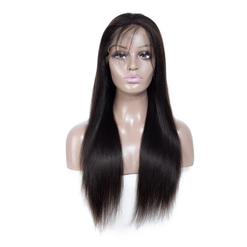 البرازيلي العذراء الشعر الدانتيل الجبهة الباروكات مستقيم الشعر البشري 10-30 بوصة الرباط الباروكات اللون الطبيعي مع شعر الطفل