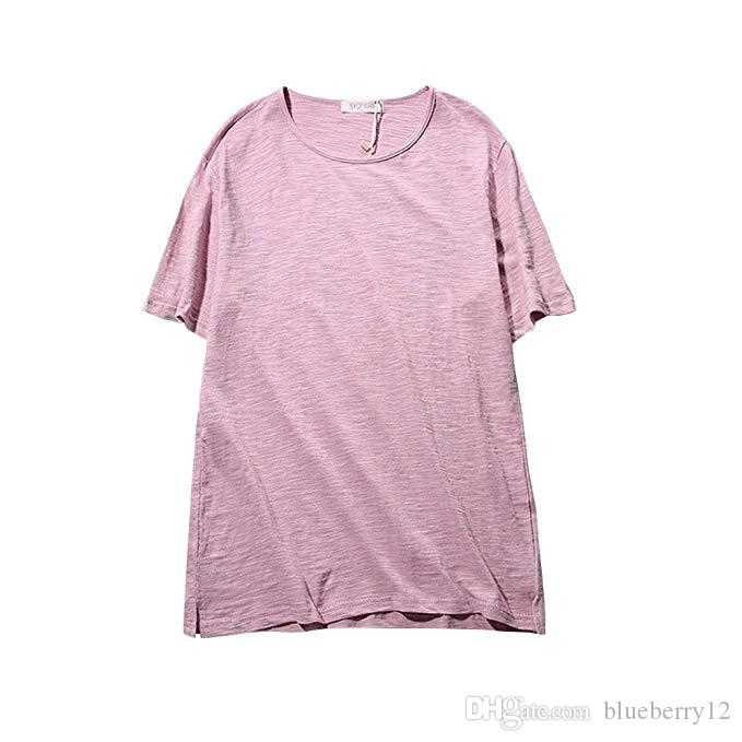 Мужские футболки Повседневная Slim Fit с коротким рукавом Хенли T-Shirt Кнопка вокруг шеи рубашки тройника Stock Зазор 7 дней Прибытие