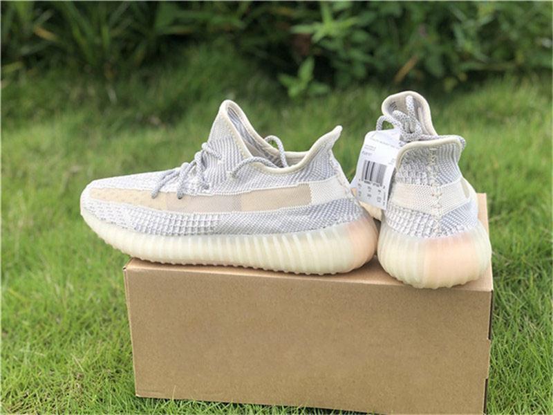 2019 Otantik 350 S V2 Lundmark FV3250 Erkek Kadın Atletik Ayakkabı Kanye West Synth Antlia Yansıtıcı 3 M Siyah FU9161 Koşu Ayakkabıları Ile kutu