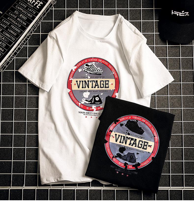 Men'sT футболки 2019 лето новые Сыпучие рубашка Мужская мода Street Style Trend Top Футболка мужская повседневная Печатные Одежда Плюс Размер S-6XL Оптовая