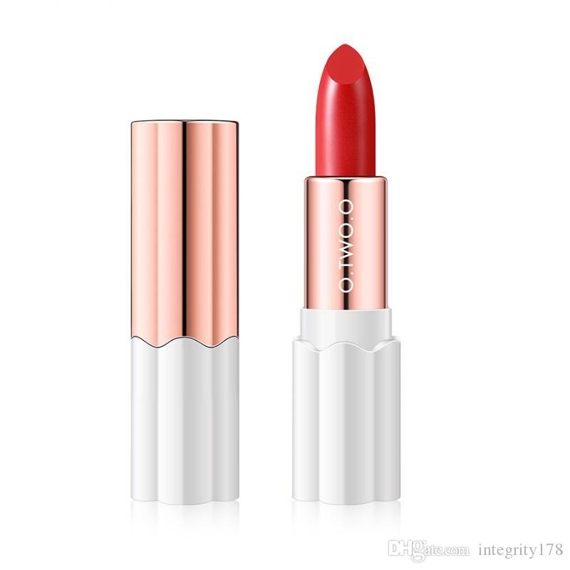 O.TWO.O Plum Blossom Lipstick Nude Rich Color Waterproof Moisturizing Long Lasting Lightweight Lips Makeup 12 Colors