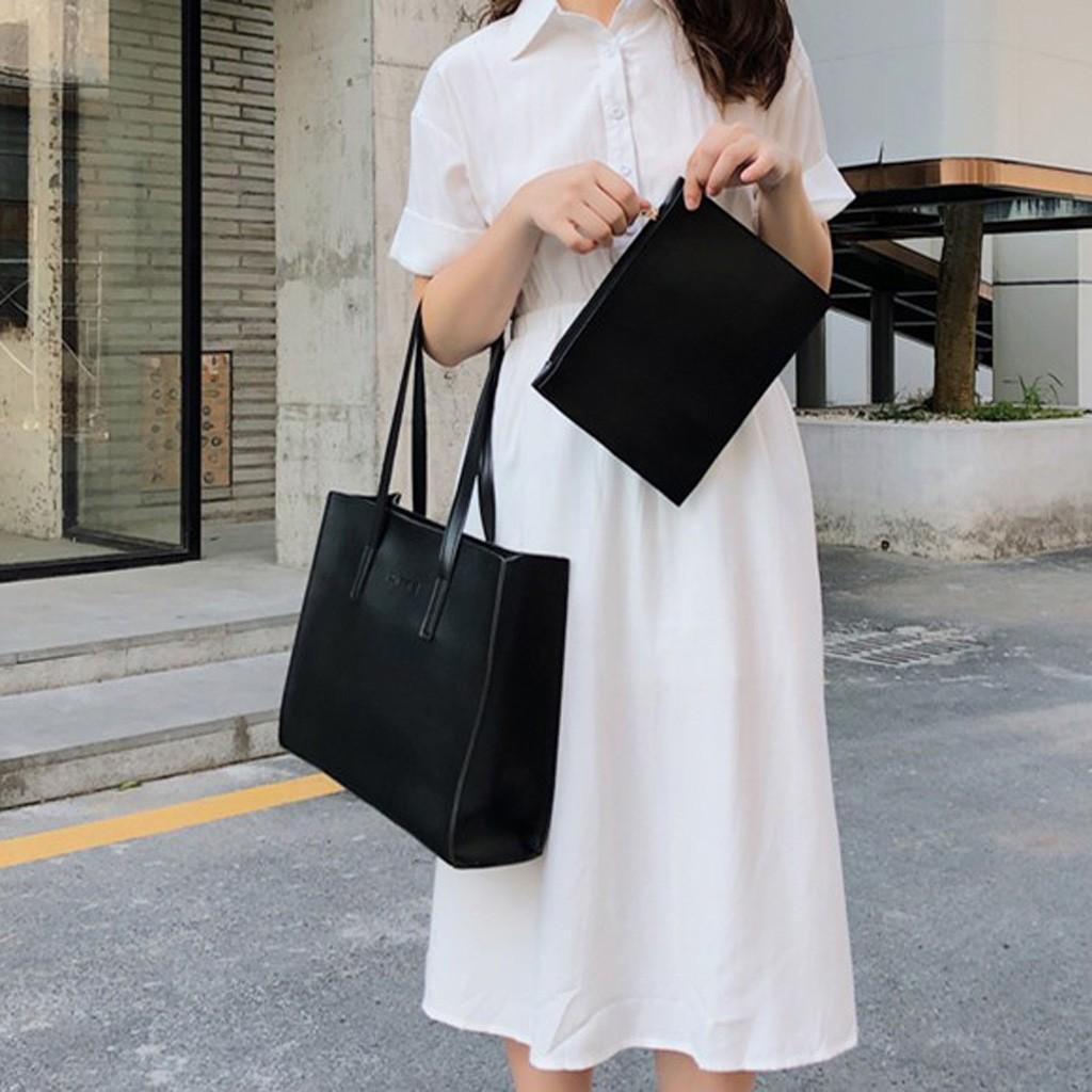 Мода женщин Сплошной цвет большой емкости кожа сумка сумка моды диких посыльного сумки