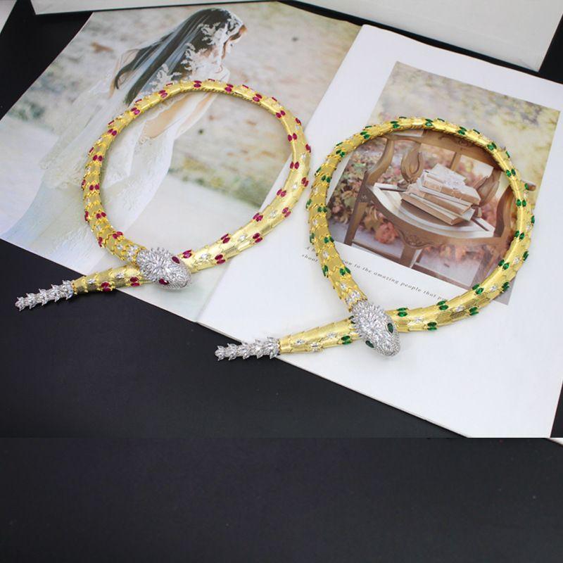 Обновлены новые модные цирконовые зверушки в виде зверушек из меди дизайнер 18-каратного золота для женщин, носящих украшения
