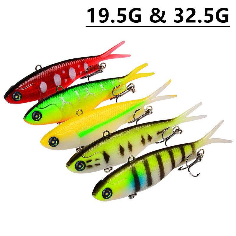 Mixed 5 Color 19.5g & 32.5g Jigs Fishing Hooks Fishhooks 6/4# Hook Soft Baits & Lures Pesca Fishing Tackle C-017