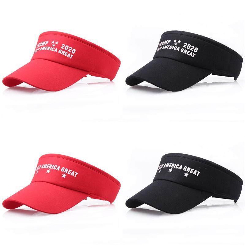 Amerika Büyük 2020 Trump Tutmak Mektup Baskı Şapka Unisex Yaz Snapback Ayarlanabilir Açık Spor Vizör Beyzbol Golf Şapka Düz Renk A32007