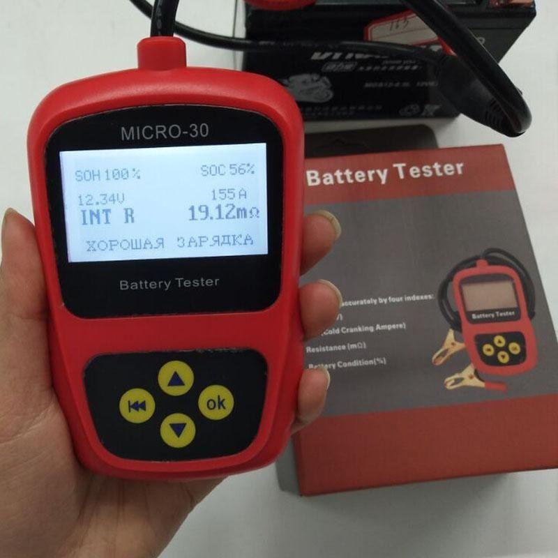 Lancol Batteriespannung Checker Micro -30 Motorrad-Batterie-Analysator-Prüfvorrichtung