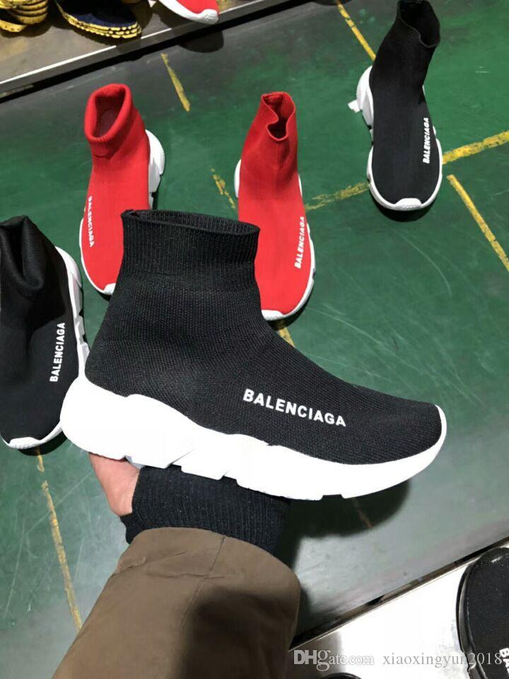 Drop Shipping Erkek ve Bayan Rahat Ayakkabılar Zoom Slip-on Speed Trainer Düşük Mercurial XI Siyah Yüksek Moda yardım Çorap ayakkabı Sneakers