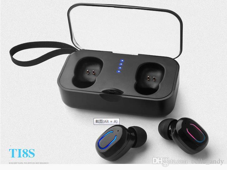 TI8S بلوتوث 5.0 سماعات TWS سماعات لاسلكية سماعات بلوتوث يدوي سماعة الرياضة سماعات الأذن سماعة للهواتف الذكية