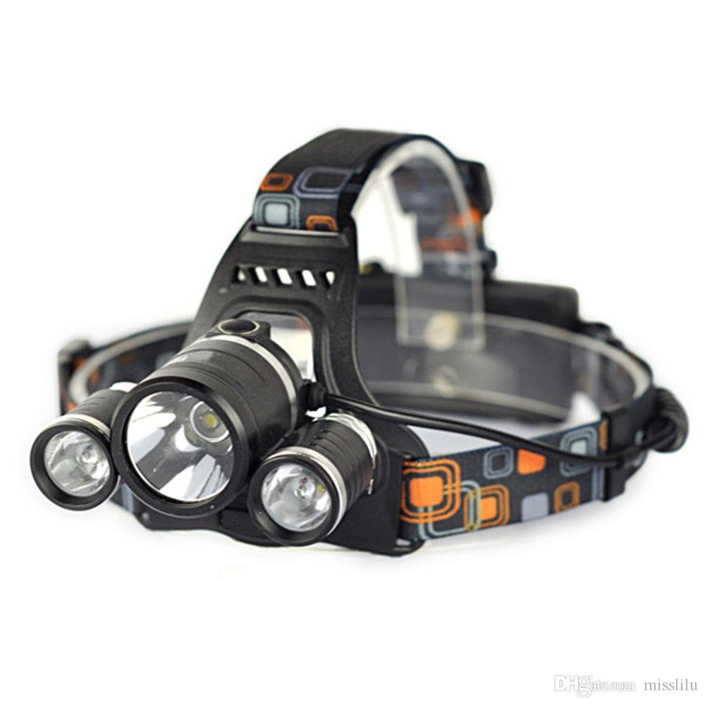 SOS 휘슬과 함께 헤드 램프를 충전 뉴 포커스 L2 +의 COB 강한 대머리 램프 방수 낚시 헤드 램프 USB