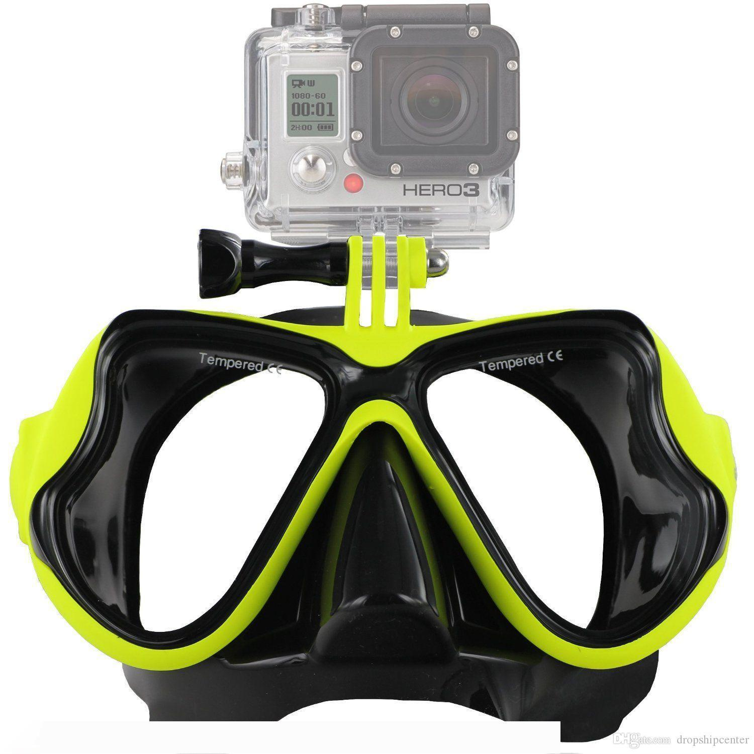 Scuba Diving Mask Goggles Swimming Snorkeling Anti Fog Coated Tempered Glass 100% Leak-Proof Design Compatible GoPro Hero Water Sport
