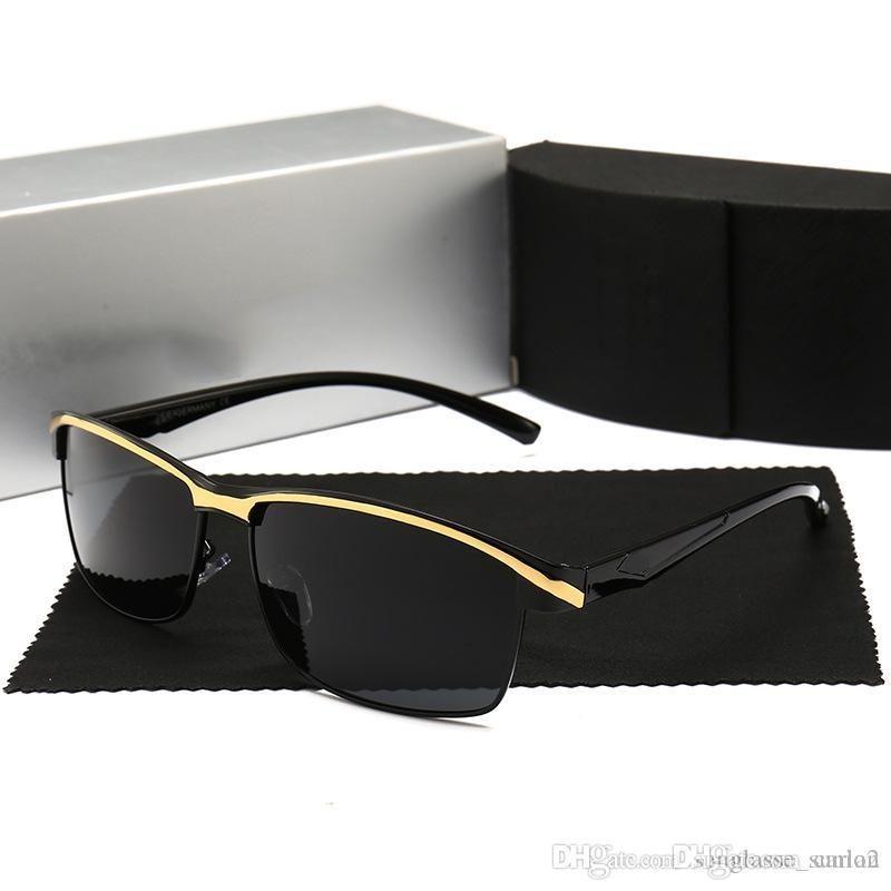 Marke Audi neue Männer polarisierten Sonnenbrillen fahren Brille Sonnenbrille große Mode 551 4 Farben mit Etui
