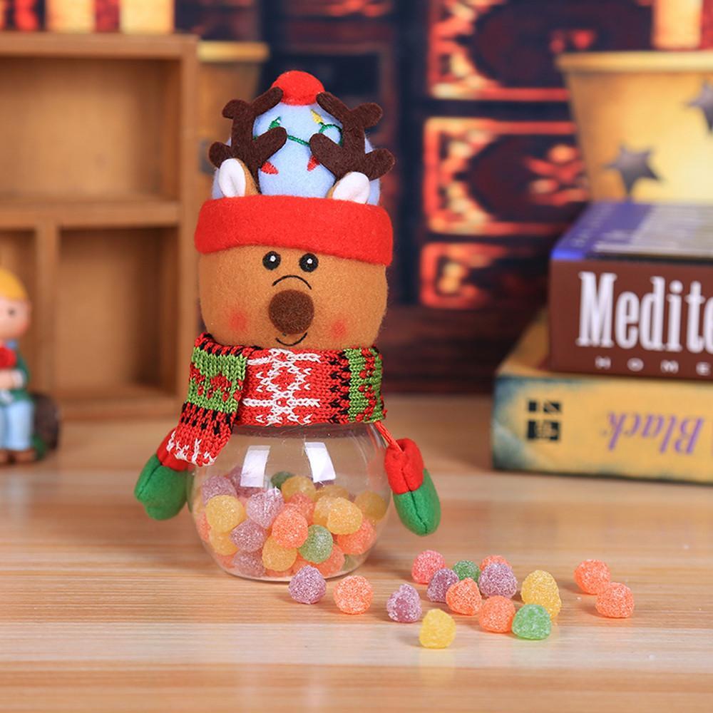 1 ШТ. Дети Дети Рождество Конфеты Jar Хранения Бутылки Санта-Мешок Сладкий Рождество Коробка Подарочные подарки Милый Ящик Для Хранения L * 5