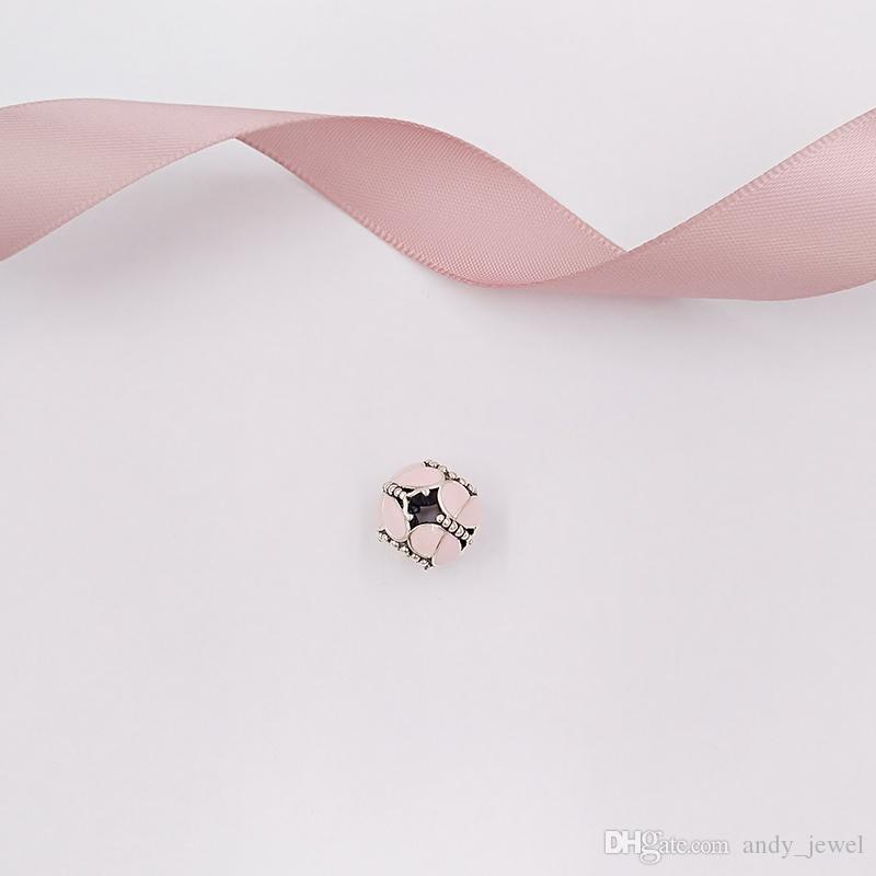 """""""Authentic 925 Sterling Silver Beads Pink Butterflies Charm Charms Fits European Pandora Style Jewelry Bracelets & Necklace 97855EN160"""""""