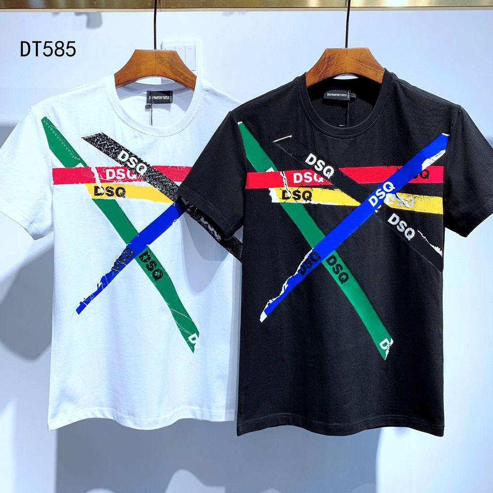 DSQ Phantom Turtle 2020SS New Herren Designer T-shirt Pariser Mode Tshirts Sommer DSQ Muster T-Shirt Männliche Top Qualität 100% Baumwolle Top 6794