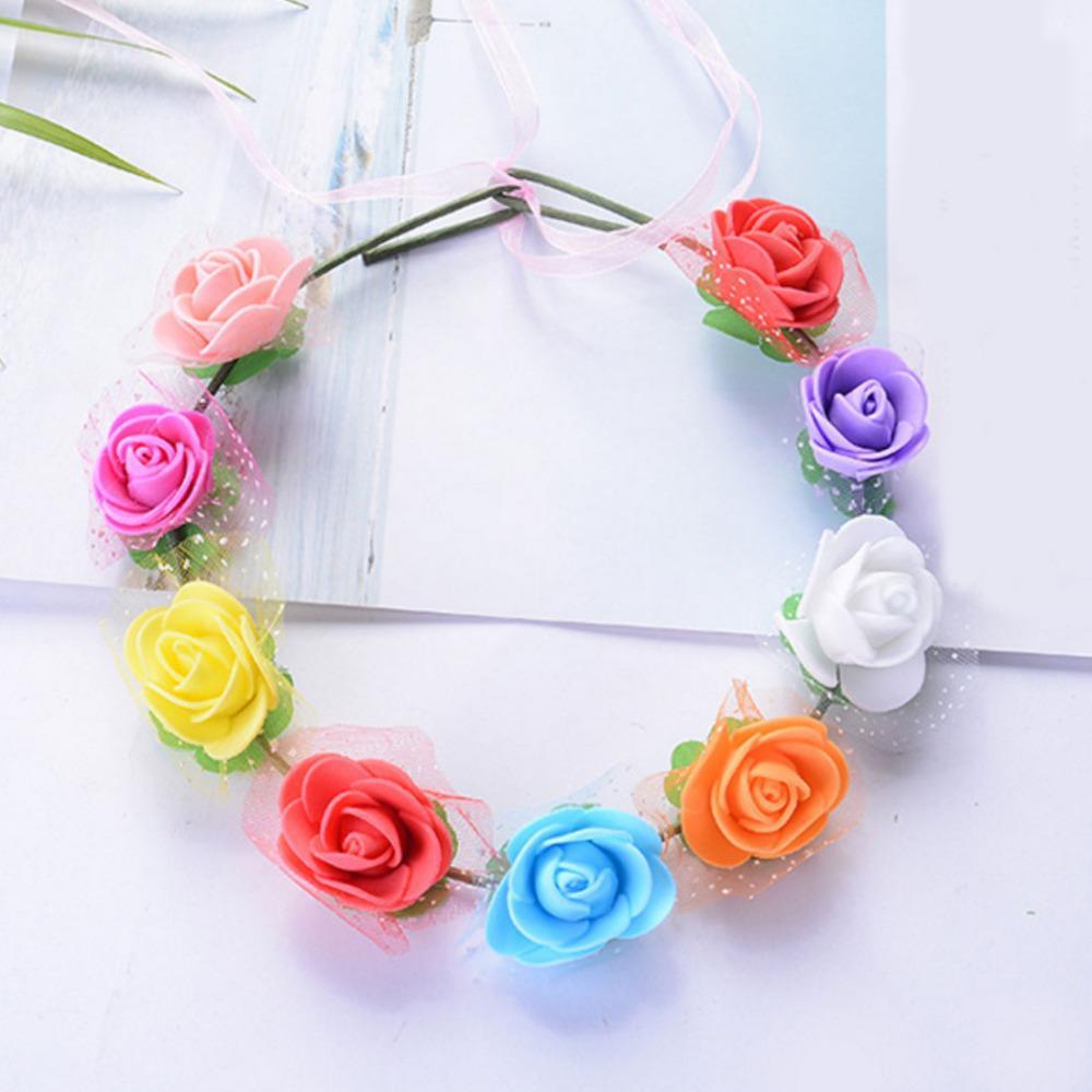 decorazione di cerimonia nuziale 144pcs / Lot Mini Foam Rose Bouquet di fiori artificiali 2cm Rose Wedding Flower Decor Falso
