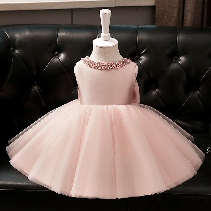 Tick Tok Sommer der neue Mädchen im ersten Jahr Rosa Kleid Geburtstags-Prinzessin-Kleid des Mädchens Pengpeng Garns Kinder Klavier Spiel