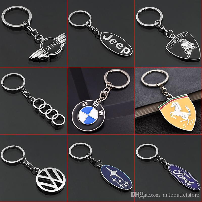 FIAT Auto 3D Car Logo Metal Key Chains Pendant Silver Holder Keyring for Fiat