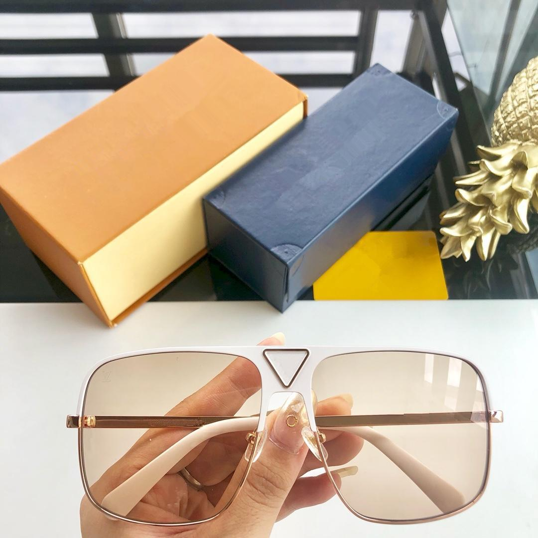 Fashion frame new popular designer sunglasses light color protection decorative glasses top quality 114