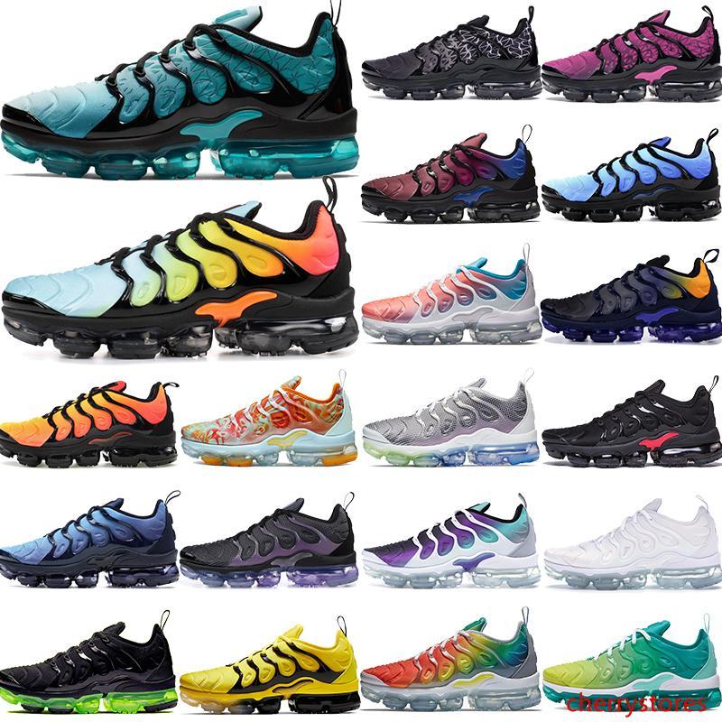 Pers menekşe TN Artı koşu ayakkabıları erkekler kadınlar kaliteli ayakkabı tasarımcısı gerçek üzüm aqua yaban arısı yetiştirilen spor ayakkabılarını ağartılmış olmak 5,5-11
