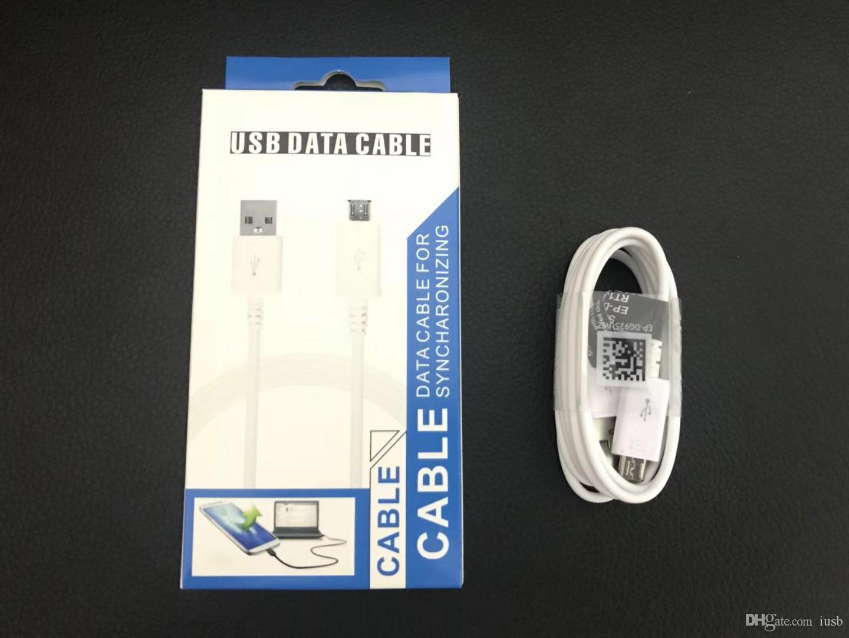 Novo Tipo Universal C Micro Carregador USB V8 Cabo de Dados Cabo de Sincronização com Caixa de Pacote de varejo para samsung galaxy s6 s7 s8 s9 nota 6 7 8 9 huawei p