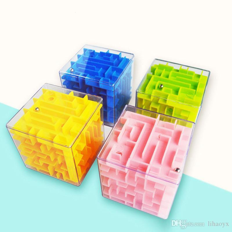 5.5см 3D Cube головоломка лабиринт игрушка ручной игровой корпус коробки веселый мозг игры challenge fidget игрушки баланс образовательные игрушки для детей dc973