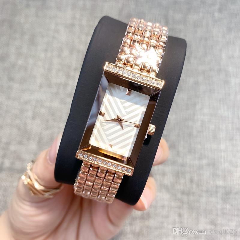 다이아몬드 캐주얼 여성 로즈 골드 시계 석영 시계 숙녀 간단한 손목 시계 여성 새로운 최고 품질의 시계 패션 드레스는 명품 시계