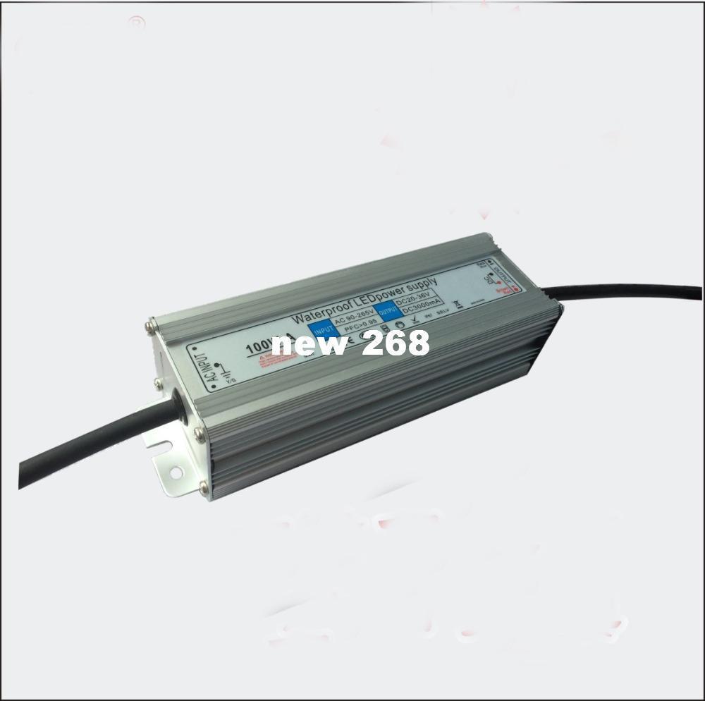 Freeshipping 100 Вт водонепроницаемый светодиодный драйвер переменного тока 85 в-265 в Выход 30 в-36 В постоянного тока для 100 Вт высокой мощности светодиодные лампы для светодиодный прожектор, светодиодный высокий залив