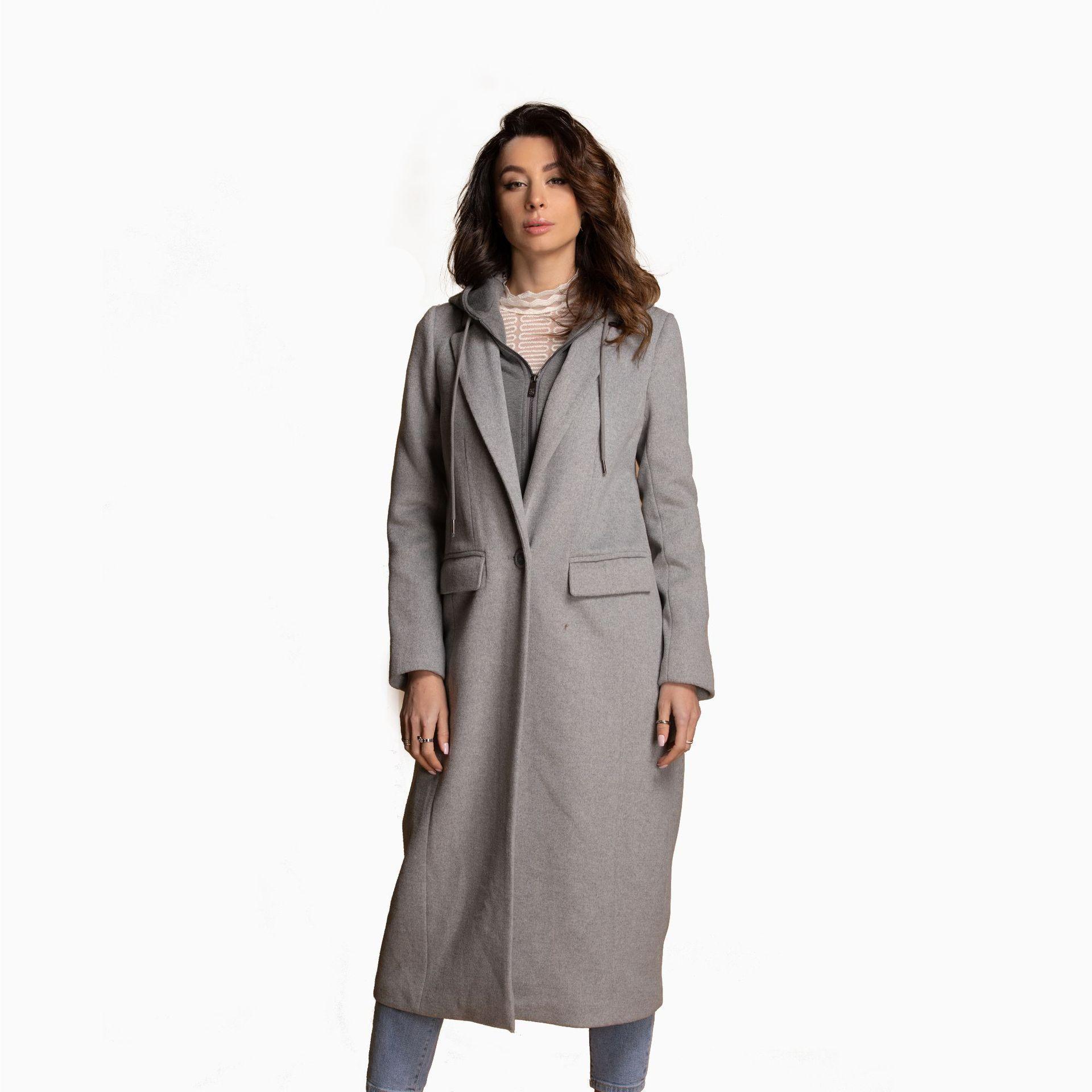 Transfrontaliera appositamente per il nuovo autunno e inverno 2019 lungo tratto delle donne di europei e moda americana cappotto di lana con cappuccio soprabito