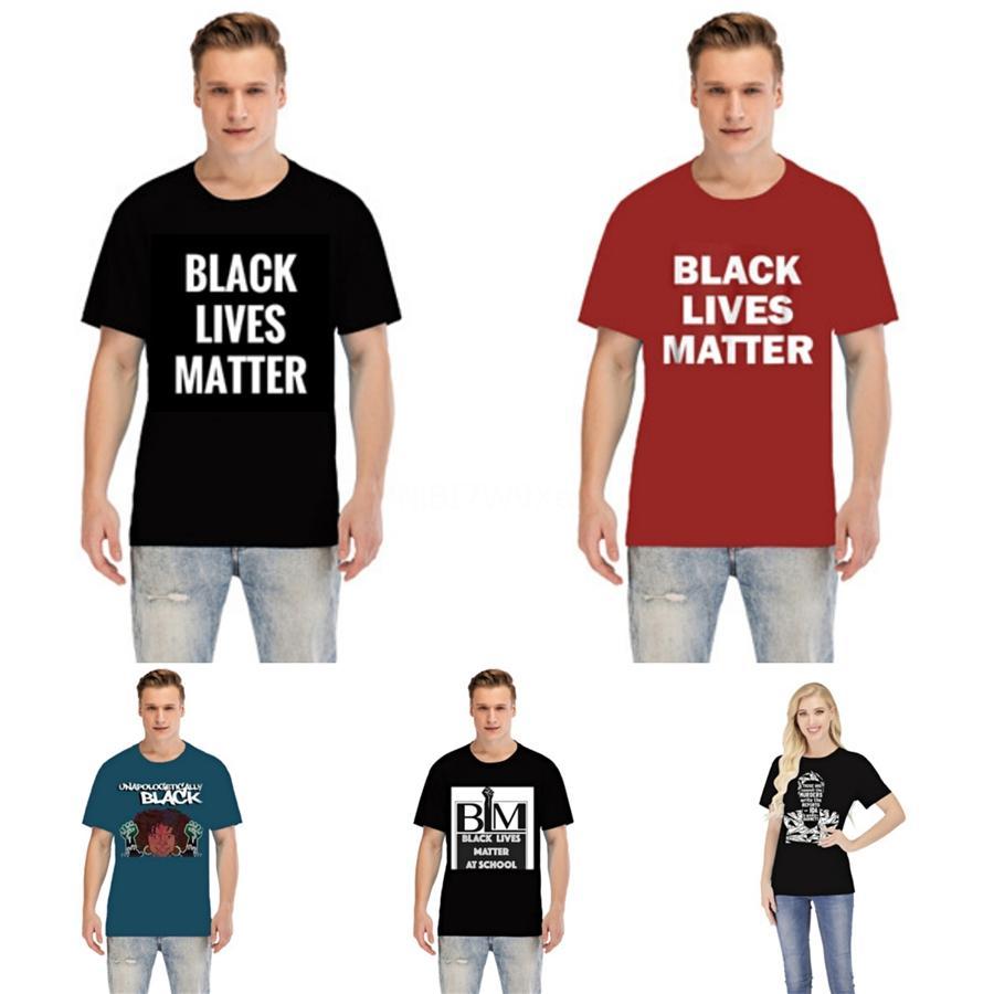 Siyah Hayatlar Matter! 2020 Yeni Erkek Tasarımcı T Gömlek Siyah Beyaz Gri Erkek Moda Tasarımcısı T Shirt En Temel Kısa Kollu S-5XL # 79720