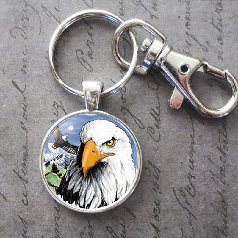 Bald Eagle Schlüsselanhänger Schlüsselanhänger Tier Foto Key Buckle Anhänger Geburtstag Festival Jahrestag Geschenk Schmuck Accessoires