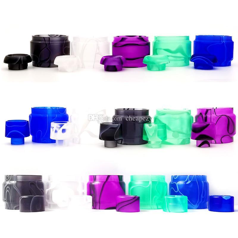 Tubo in resina acrilica con Drip Tip kit di sostituzione TFV16 TFV12 principe Valyrian 2 Zeus X tubo esteso set DHL libera