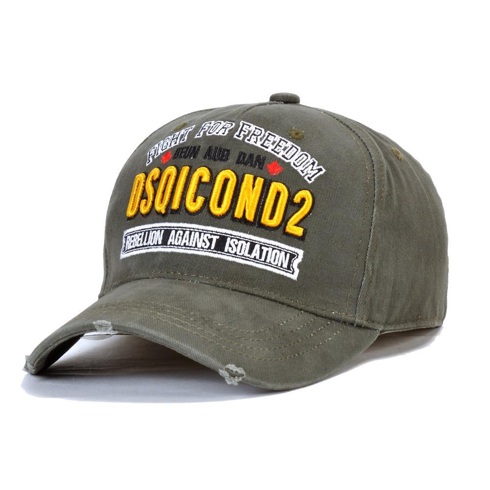 harflerin arkasında Sıcak Satış DSQICOND2 Mens Tasarımcısı şapkalar Casquette d2 lüks nakış ayarlanabilir Moda şapka 2020 yeni 7 renk