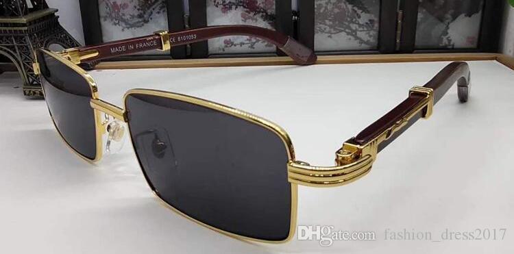 2020 óculos de sol de búfalo óculos de esportes retro moda homens mulheres óculos de madeira Óculos de sol cheios com Sun Rimless Box Horn para Qaqe