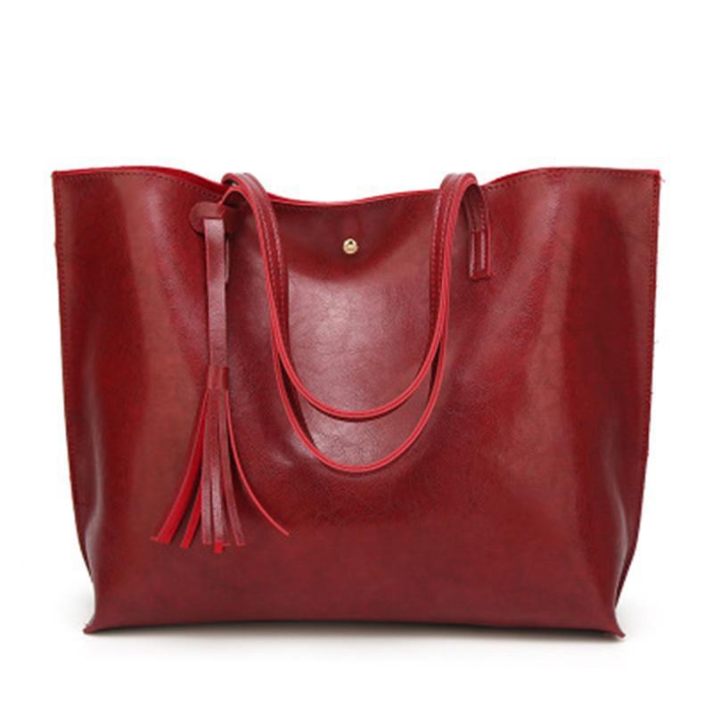 pg17 Mode Taschen Damen Große Kapazität Quasten Handtasche Designer Taschen Frauen Einkaufstasche Luxusmarken Taschen Einzelner Schulterbeutel Rucksack