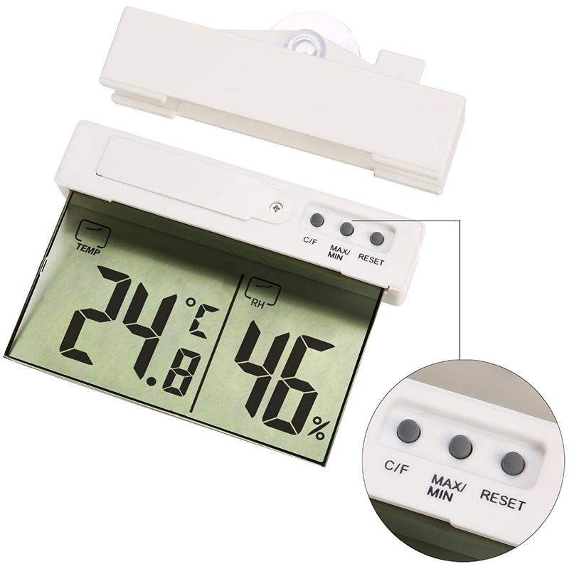 Display Digital Forma Termômetro Telhado otário Designer Início Outdoor Indoor Sell criativa H208H LCD Termômetro Hot HHA1032