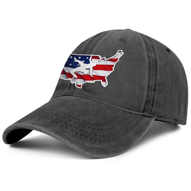 США Борьба Америка Флаг мужского джинсовый бейсбол колпачок прохладно мило модные шапки 2016 Olympic Team Логотипа Старой печать Iowa Рик Флер Woo!