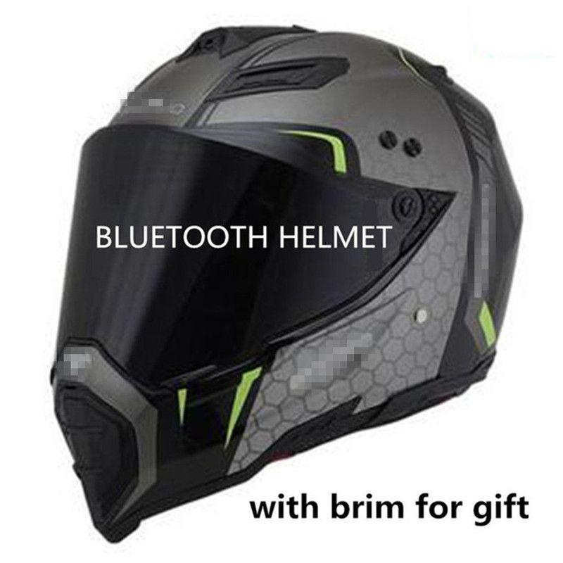 casque bluetooth moto 2018 haut-parleurs DOT BT motocross écouter lien de musique ou d'une route androïde casque cross