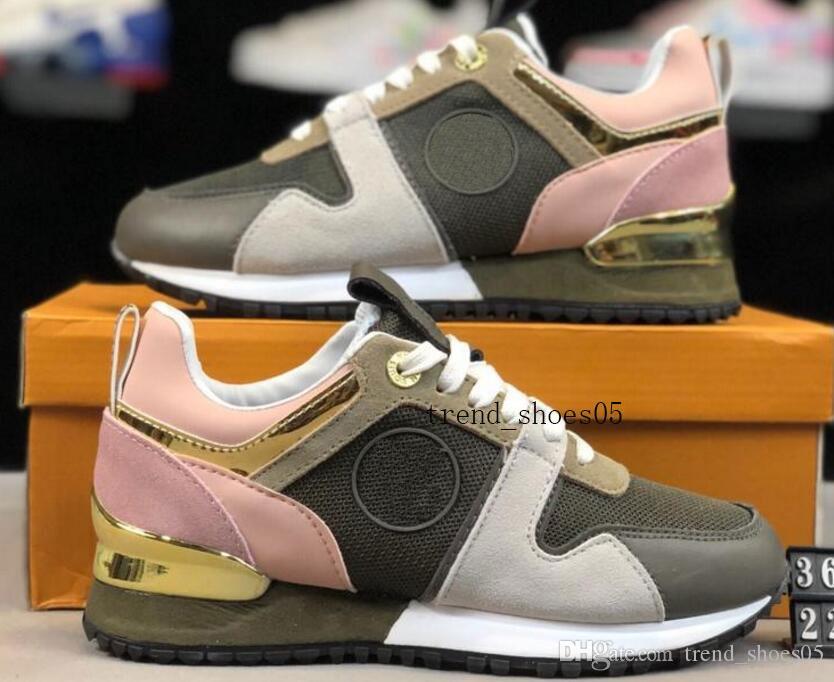 2019 con la caja de cuero de lujo NUEVA ARCHLIGHT zapatilla de deporte casuales diseñador de las mujeres zapatillas de deporte de los hombres zapatos color mezclado manera del cuero genuino