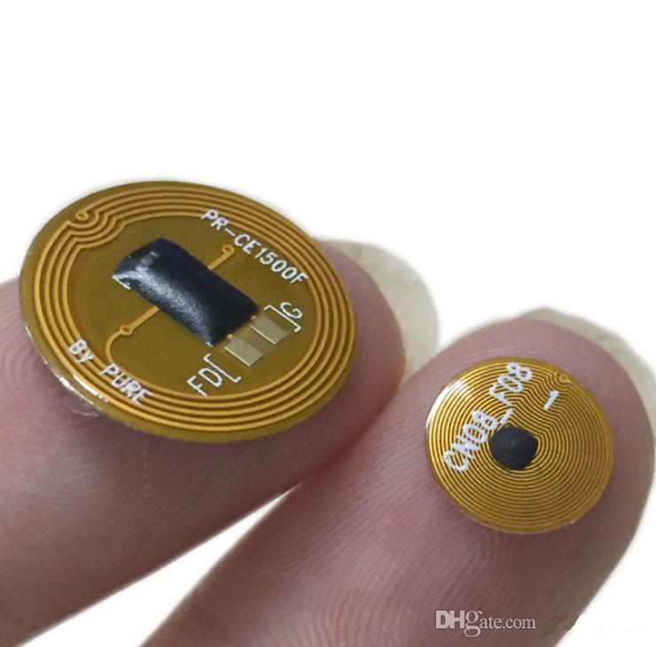 15mm in dia iso14443a Mini RFID FPC Tag 13.56 mhz ntag213/F08 NFC Tag с adhsive для всех телефонов NFC высокая чувствительность для управления ювелирными изделиями